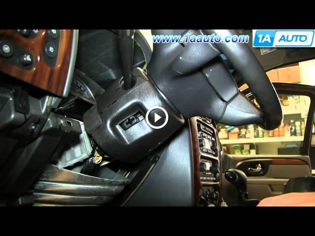 how to install replace ignition switch 2002 09 gmc envoy chevy trailblazer. Black Bedroom Furniture Sets. Home Design Ideas