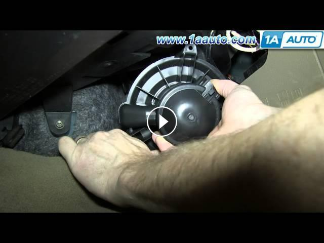 How to install replace heater ac blower fan motor 2004 08 for Heater blower motor replacement