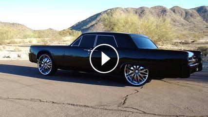 bagged 1964 lincoln continental on 24 inch rims. Black Bedroom Furniture Sets. Home Design Ideas