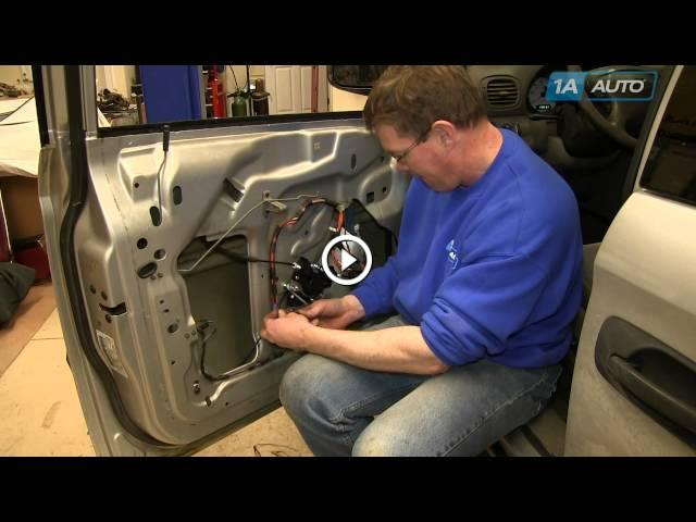 How to install replace power window regulator and motor for 2001 dodge caravan power window motor replacement