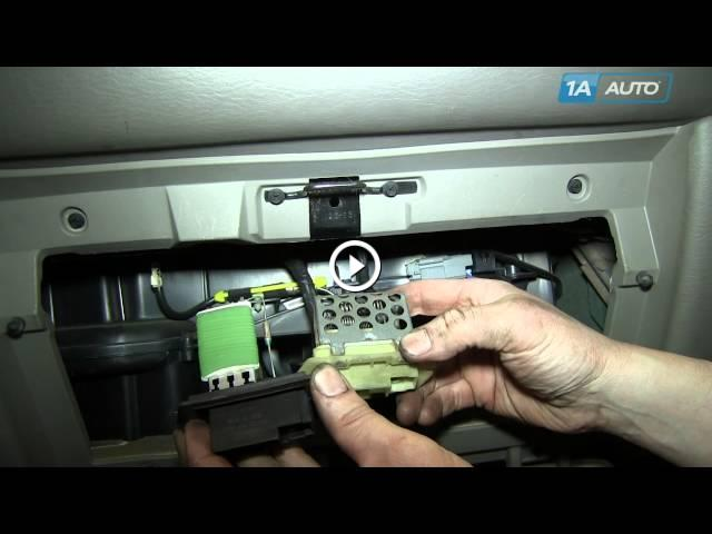 How To Install Diagnose Ac Heater Fan Speed Resistor 2001