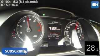 2013 Audi A4 1.8 TFSI 170 BHP 0-190 Km/h Acceleration