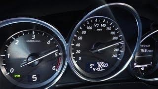 Mazda CX-5 Acceleration / 0-100 / 0-200 / Top Speed Test [HD]