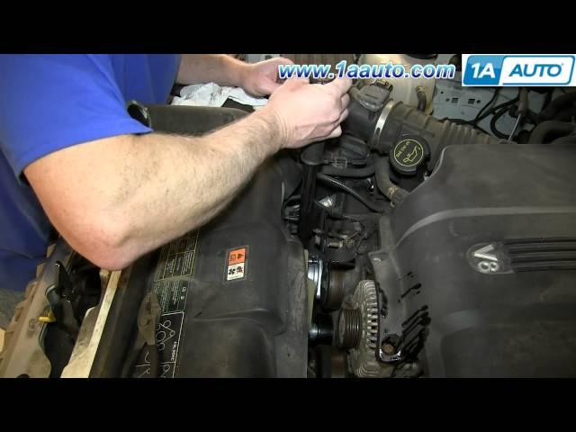 How to change a serpentine belt tension wheel on the 2003 for Mercedes benz serpentine belt replacement cost